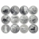 Сувенирные монеты и знаки из серебра
