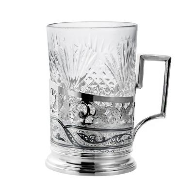 Серебряный подстаканник со стаканом. арт. 875-0031(4)