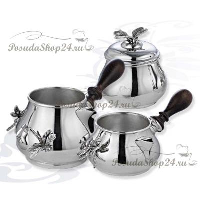Cеребряный набор для кофе «СТРЕКОЗА». арт. 925-10-0050181/АТ