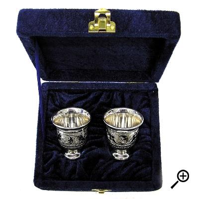 Набор серебряных стопок «ПОСОШОК» арт. 875-2-0131