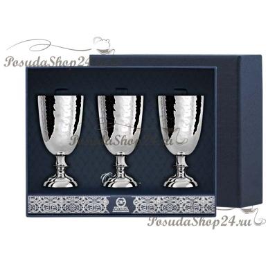 Набор серебряных кованых рюмок №1. арт. 925-5-026РМ00001(3)