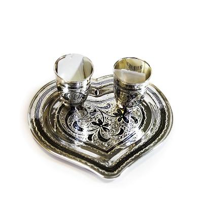 Свадебный серебряный набор «Совет да любовь». арт. 875-2-3806