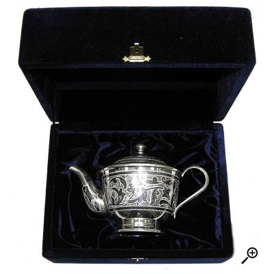 Cеребряный чайник «ТРАДИЦИЯ». арт. 875-1-0021