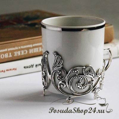 Серебряный чайный набор «ВИТОЙ». арт. 925-5-571НБ03806