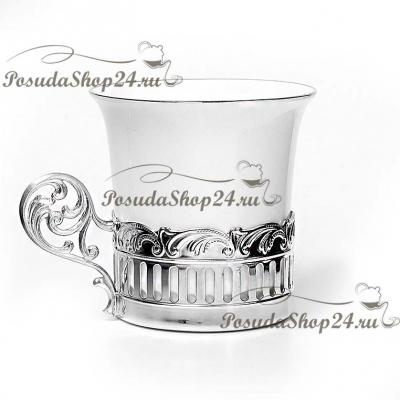 Серебряный кофейныйнабор «Богема» с сахарницей. арт. 925-5-756НБ07801