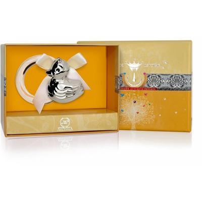 Серебряная погремушка-прорезыватель «УТКА» на кольце арт. 925-5-1GI0121A/8