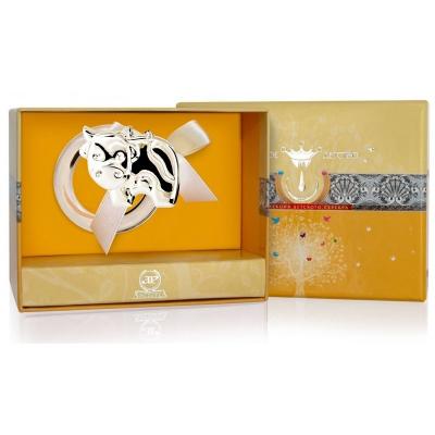 Серебряная погремушка-прорезыватель «БУРЕНКА» на кольце арт. 925-5-1GI0141V