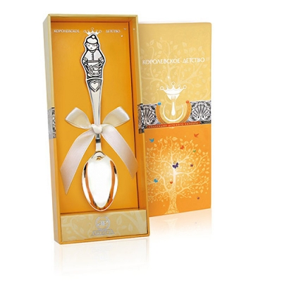Серебряная чайная ложка «МАЛЬЧИК». арт. 925-5-012ЛЖ03801
