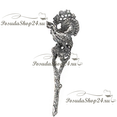 Серебряная чайная ложка  «ГЛУХАРЬ». арт. 925-5-346ЛЖ03006
