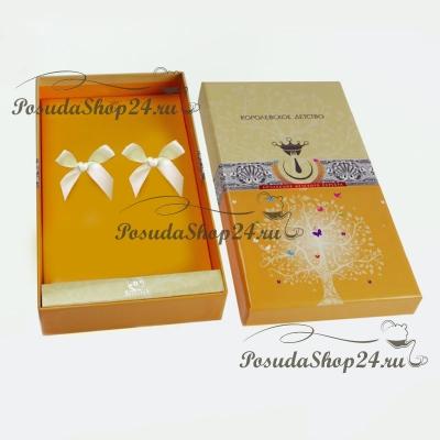 Десертный набор из двух серебряных приборов «МОРОЗКО». арт.925-5-317НБ02801