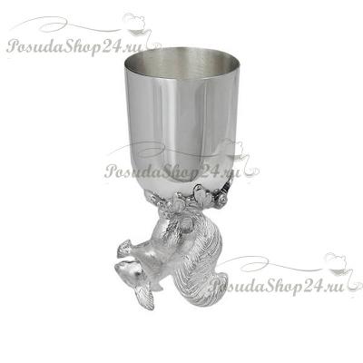 Серебряная рюмка «БЕЛКА». арт. 875-5-024РМ00801