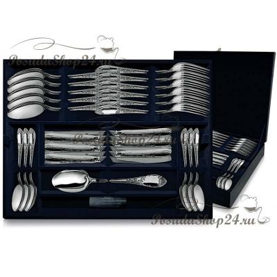 """Столовый набор из серебра """"Престиж"""" из 24 предметов. арт. 925-5-152ЛЖ01001"""