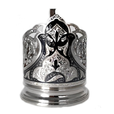 Серебряный подстаканник со стаканом. арт. 875-0031(24)