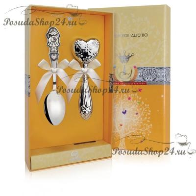 Набор из серебра для девочки «Сердце мое». арт. 925-5-011ЛЖ03801/1GI0431F