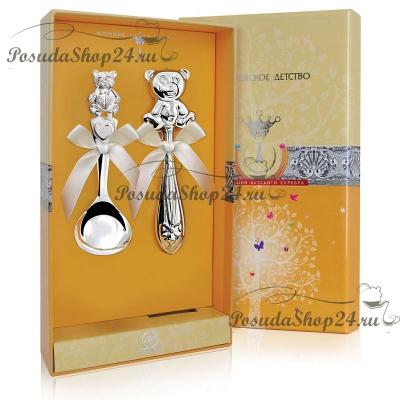 Детский набор из серебра «МИШУТКА». арт. 925-5-РИ17НБ05801