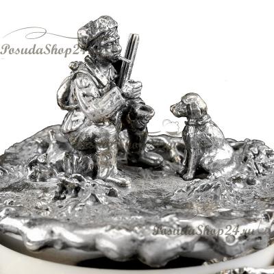 Серебряная солонка «ОХОТА». арт. 925-5-713СЛ00006