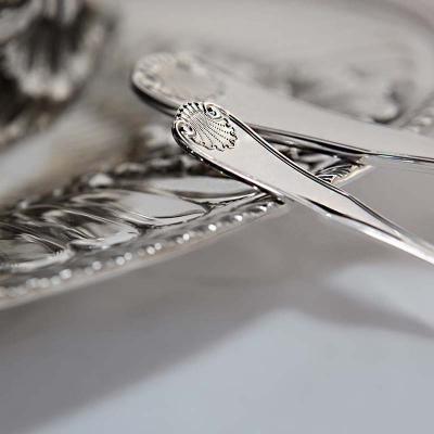 Серебряная кофейная серебряная ложка «ВИЗИТ» арт. 925-5-253ЛЖ07001