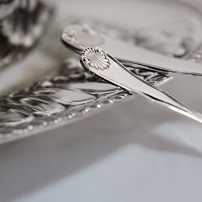 Набор из 3-х серебряных чайных ложек «ВИЗИТ» арт. 925-5-722НБ03801