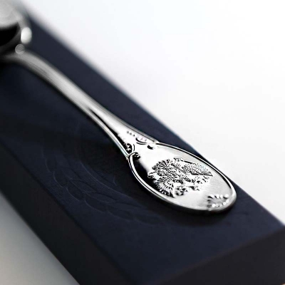 Столовая серебряная вилка «Единство». арт. 925-5-252ВЛ01001