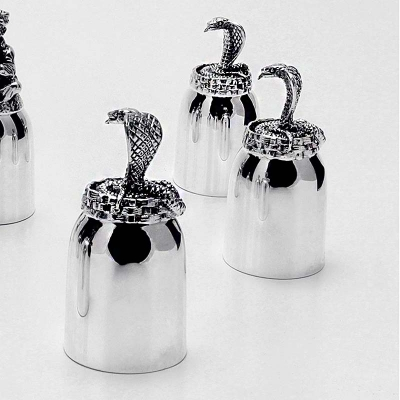 "Серебряная рюмка ""Змея"" арт. 925-5-601РМ00806"