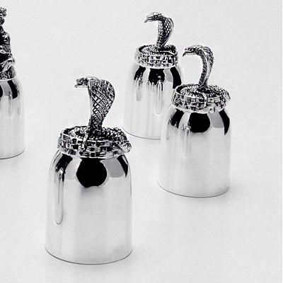 Набор серебряных рюмок «Заклинатель змей». арт. 925-5-659НБ00806