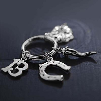 Серебряный брелок «НА УДАЧУ» из серебра 925 пробы. арт. 925-5-133БР15001