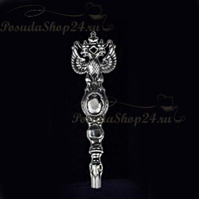 Серебряная ложка  «ГЕРБ» арт. 925-5- 852ЛЖ00006