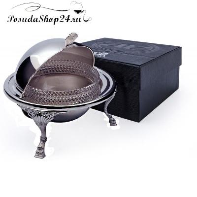 Серебряная икорница «БАРОККО». арт. 925-5-870ИК00001