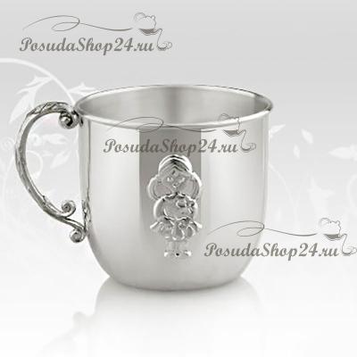 Набор из серебра «ДЕВОЧКА»: кружка и погремушка. арт. 925-5-11GI0441J/8-н2
