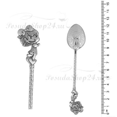 Серебряная ложка «Девчушка» арт. 925-2-2842