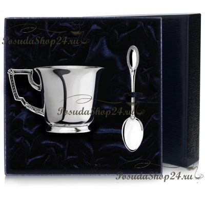 """Набор серебра """"ИМПЕРАТОР"""" для чая/кофе. арт. 925-5-960ЧШ03006"""