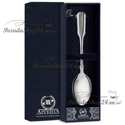 Серебряная чайная ложка «РУССКАЯ» арт.  925-5-982ЛЖ03001