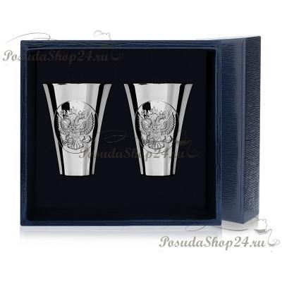 Набор из 6 серебряных стопок «ГЕРБ» арт. 925-5-294НБ00801(6)
