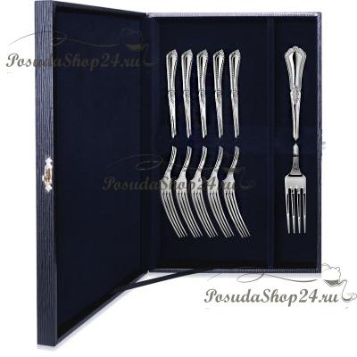 Набор десертных серебряных вилок «ФАВОРИТ» арт. 925-5-045ЛЖ02001(6)