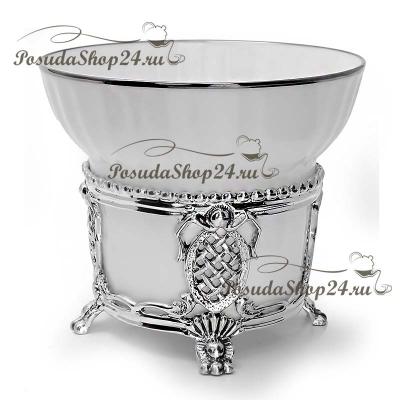 Серебряная чайная пара «МЕЦЕНАТ». арт. 925-5-562ЧШ03006(2)