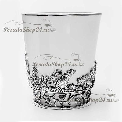 Серебряный чайный набор на 6 персон «ТЕТЕРЕВ». арт. 925-5-538ЧШ03006(н6)