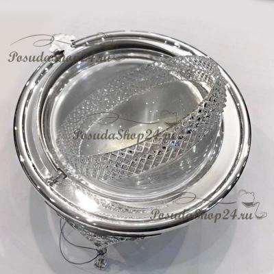 Серебряная икорница «ВЛАСТЬ». арт. 925-5-869ИК00001