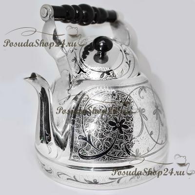 Cеребряный чайник «ОБЫЧАЙ». арт. 875-6-0021