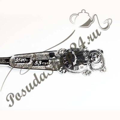Серебряная ложка «Мишка-Часики» арт. 925-2-9075