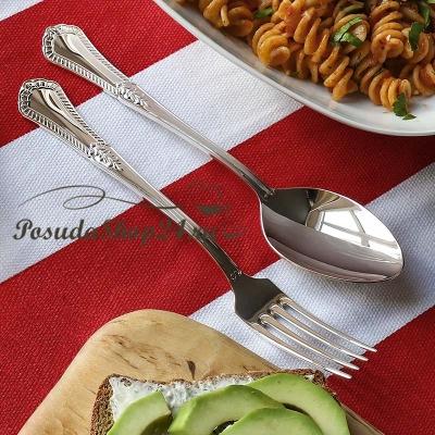 Серебряная десертная ложка «ФАВОРИТ». арт. 925-5-045ЛЖ02001