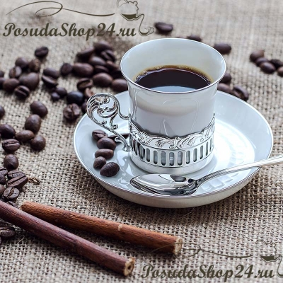 Серебряный кофейный набор «БОГЕМА». арт. 925-5-534ЧШ07001