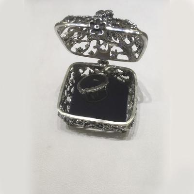 Серебряная шкатулка «Павлин». арт. 925-5-527ШК00006