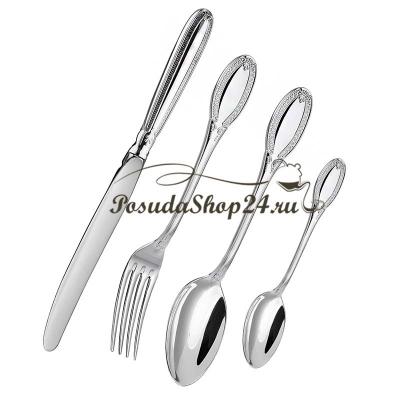 Набор десертных серебряных ложек «ИМПЕРАТОР» арт. 925-5-335ЛЖ02001(6)