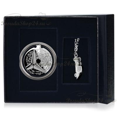 """Подарочный набор из серебра """"Мерседес"""" арт. 925-5-295ЗК22001(нб)"""