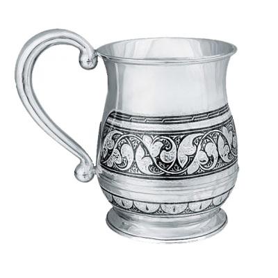 Кружка серебряная. 875 проба. арт. 875-0606