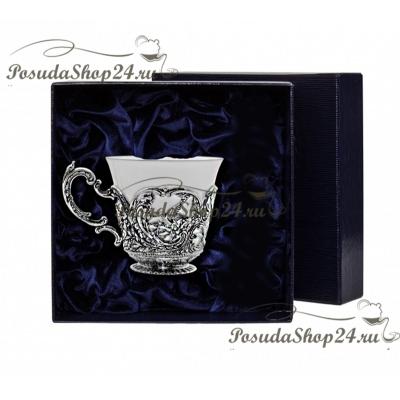 Серебряная чайнаячашка«КОРОЛЕВСКАЯ ОХОТА». арт. 925-5-866ЧШ03806