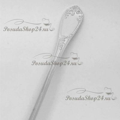 """Серебряная длинная ложка """"Престиж"""" для напитков. арт. 925-5-524ЛЖ00001"""