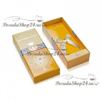 Позолоченая ложка из серебра «МИШКА с СЕРДЕЧКАМИ». арт. 925-5-338ЛЖ03002