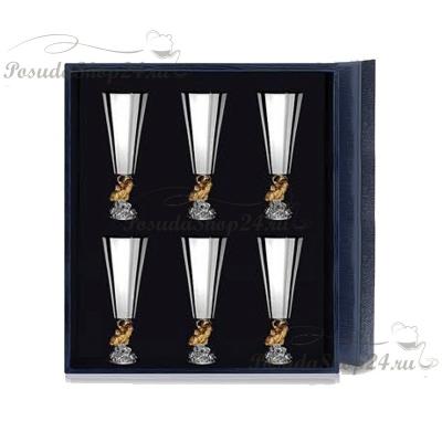 Серебряная рюмка «ЗОЛОТАЯ РЫБКА». арт. 925-5-577РМ00802