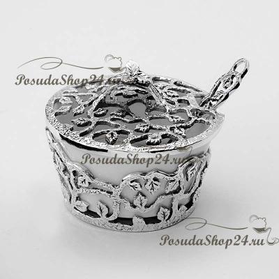 Серебряная ложка для специй «ЛИСТОПАД» . арт. 925-5-597СЛ00006/Л